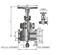 太仓Z1仿、Z2仿系列带吹扫孔闸阀