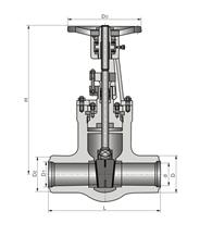 太仓高温高压焊接式手动闸阀